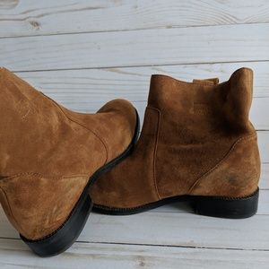 Lands' End Shoes - Lands' End Brown Suede Booties Flat Size 7B